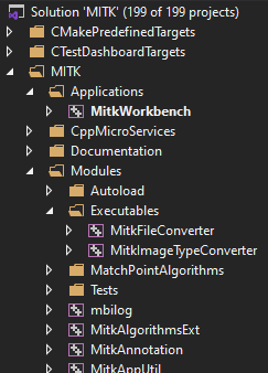 Visual Studio folders